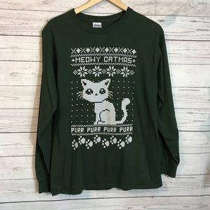 Meowy Catmas Pur Pur Sweatshirt Christmas Medium